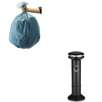 KITRCP501188GRARCP9W34BLA-Value-Kit-Black-Infinity-Ultra-High-Capacity-Smoking-Receptacle-RCP9W34BLA-and-Rubbermaid-5011-88-Tuffmade-Polyliner-Low-Density-Can-Liners-55-Gallons-RCP501188GRA-0
