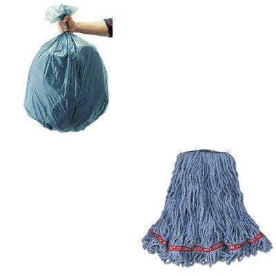 KITRCP501188GRARCPA11206-Value-Kit-Rubbermaid-Web-Foot-Looped-End-Wet-Mop-Head-RCPA11206-and-Rubbermaid-5011-88-Tuffmade-Polyliner-Low-Density-Can-Liners-55-Gallons-RCP501188GRA-0