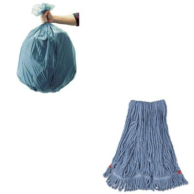 KITRCP501188GRARCPA212BLU-Value-Kit-Rubbermaid-Web-Foot-Wet-Mop-Head-RCPA212BLU-and-Rubbermaid-5011-88-Tuffmade-Polyliner-Low-Density-Can-Liners-55-Gallons-RCP501188GRA-0