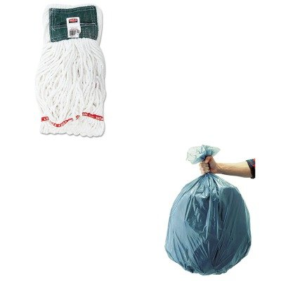 KITRCP501188GRARCPA25206WHI-Value-Kit-Rubbermaid-Web-Foot-Shrinkless-Looped-End-Wet-Mop-Head-RCPA25206WHI-and-Rubbermaid-5011-88-Tuffmade-Polyliner-Low-Density-Can-Liners-55-Gallons-RCP501188GRA-0