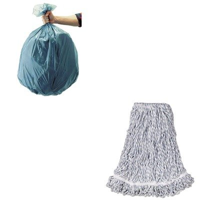 KITRCP501188GRARCPA413-Value-Kit-Rubbermaid-Web-Foot-Finish-Mop-RCPA413-and-Rubbermaid-5011-88-Tuffmade-Polyliner-Low-Density-Can-Liners-55-Gallons-RCP501188GRA-0