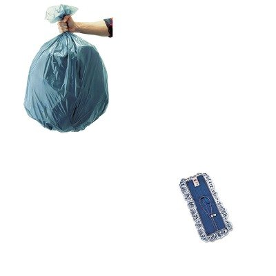 KITRCP501188GRARCPE052-Value-Kit-Rubbermaid-Finish-System-Replacement-Mop-Head-RCPE052-and-Rubbermaid-5011-88-Tuffmade-Polyliner-Low-Density-Can-Liners-55-Gallons-RCP501188GRA-0