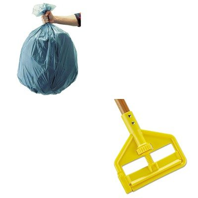 KITRCP501188GRARCPH116-Value-Kit-Rubbermaid-Invader-Antimicrobial-Wet-Mop-Handle-RCPH116-and-Rubbermaid-5011-88-Tuffmade-Polyliner-Low-Density-Can-Liners-55-Gallons-RCP501188GRA-0