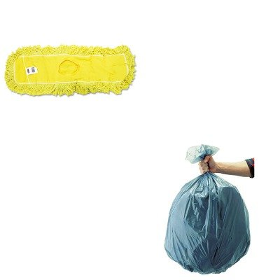 KITRCP501188GRARCPJ15300YEL-Value-Kit-Rubbermaid-Dust-Mop-Trapper-Looped-24X5-RCPJ15300YEL-and-Rubbermaid-5011-88-Tuffmade-Polyliner-Low-Density-Can-Liners-55-Gallons-RCP501188GRA-0