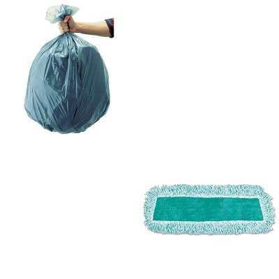 KITRCP501188GRARCPQ408GRE-Value-Kit-Rubbermaid-Q408GRE-18quot-Standard-Microfiber-Dust-Mop-with-Fringe-Green-RCPQ408GRE-and-Rubbermaid-5011-88-Tuffmade-Polyliner-Low-Density-Can-Liners-55-Gallons-RCP5-0