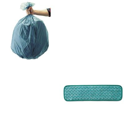 KITRCP501188GRARCPQ412GRE-Value-Kit-Rubbermaid-Microfiber-Dust-Pad-RCPQ412GRE-and-Rubbermaid-5011-88-Tuffmade-Polyliner-Low-Density-Can-Liners-55-Gallons-RCP501188GRA-0