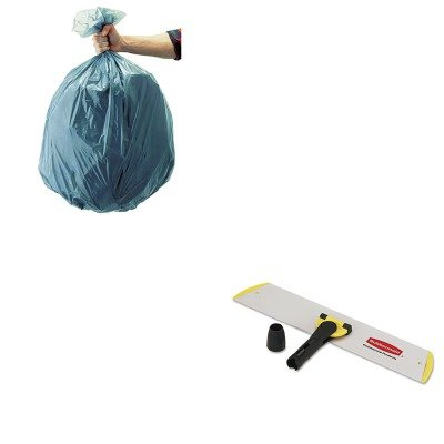 KITRCP501188GRARCPQ560-Value-Kit-Rubbermaid-18quot-Quick-Connect-WetDry-Frame-RCPQ560-and-Rubbermaid-5011-88-Tuffmade-Polyliner-Low-Density-Can-Liners-55-Gallons-RCP501188GRA-0