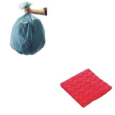 KITRCP501188GRARCPQ620RED-Value-Kit-Rubbermaid-Red-Microfiber-General-Purpose-Cloth-RCPQ620RED-and-Rubbermaid-5011-88-Tuffmade-Polyliner-Low-Density-Can-Liners-55-Gallons-RCP501188GRA-0