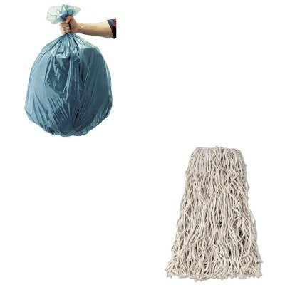KITRCP501188GRARCPV118-Value-Kit-Rubbermaid-Economy-Cut-End-Cotton-Wet-Mop-Head-RCPV118-and-Rubbermaid-5011-88-Tuffmade-Polyliner-Low-Density-Can-Liners-55-Gallons-RCP501188GRA-0