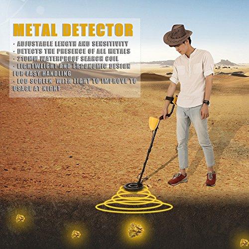 KKmoon-Metal-Detector-Fully-Automatic-Metal-Detector-with-LCD-Display-Treasure-Hunter-Sensitive-Search-Gold-Digger-Black-Yellow-0-2