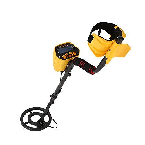 KKmoon-Metal-Detector-Fully-Automatic-Metal-Detector-with-LCD-Display-Treasure-Hunter-Sensitive-Search-Gold-Digger-Black-Yellow-0