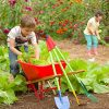 Kids-Garden-Wheelbarrow-Yard-Tools-for-Children-Red-with-Wood-Handles-Steel-Braces-Solid-Tire-33-L-x-17-W-x-1575-H-0