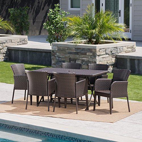 Killion-Outdoor-7-Piece-Multi-Brown-Wicker-Dining-Set-with-Foldable-Table-0-0