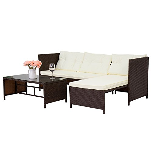 Kinbor-3-Piece-Outdoor-Rattan-Wicker-Sofa-and-Chaise-Lounge-Set-Mix-Brown-0-1