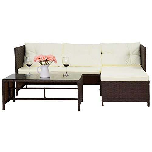 Kinbor-3-Piece-Outdoor-Rattan-Wicker-Sofa-and-Chaise-Lounge-Set-Mix-Brown-0-2