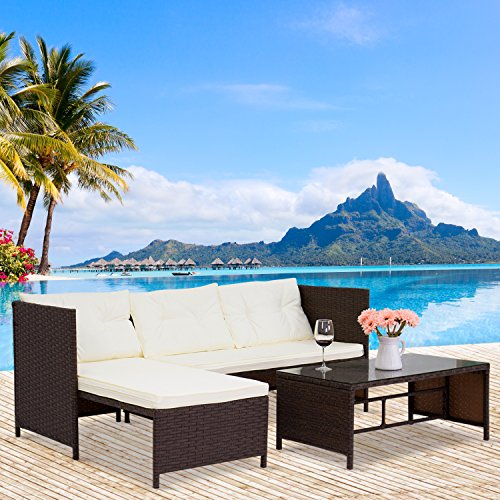 Kinbor-3-Piece-Outdoor-Rattan-Wicker-Sofa-and-Chaise-Lounge-Set-Mix-Brown-0