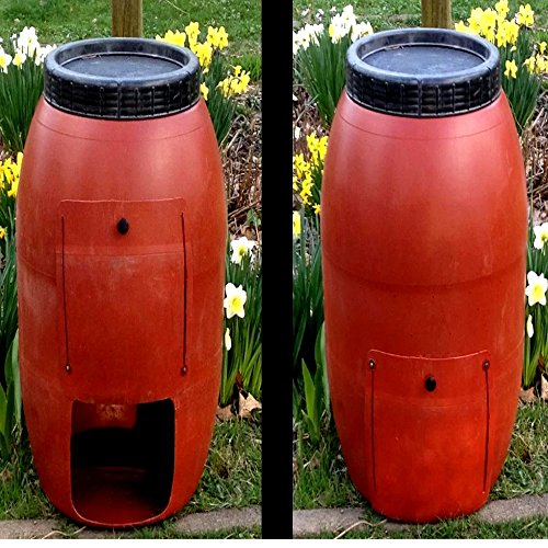 Kitchen-Compost-Collector-for-Outdoor-use-Barrel-Stationary-Single-Chamber-Original-Composter-Tumbler-with-Lid-E-Book-0-0