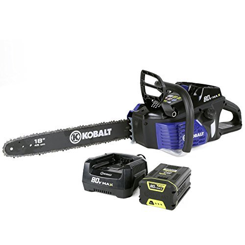 Kobalt-80-volt-Max-volt-Lithium-Ion-Li-ion-18-in-Cordless-Electric-Chainsaw-0
