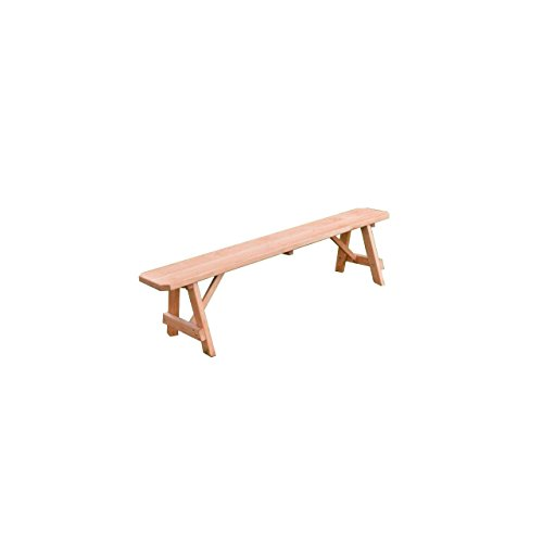 Kunkle-Holdings-LLC-Pressure-Treated-Pine-Traditional-Bench-Cedar-Stain-2-3-4-5-6-8-Foot-0-0