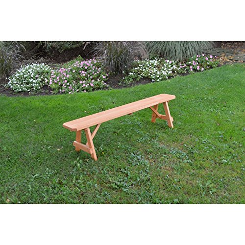Kunkle-Holdings-LLC-Pressure-Treated-Pine-Traditional-Bench-Cedar-Stain-2-3-4-5-6-8-Foot-0