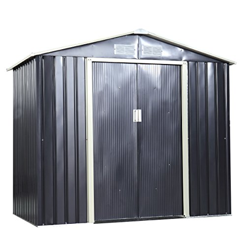 LAZYMOON-9-x-6-Ft-Metal-Garden-Utility-Storage-Shed-Outdoor-Backyard-Heavy-Duty-Tool-House-Dark-Gray-0-0