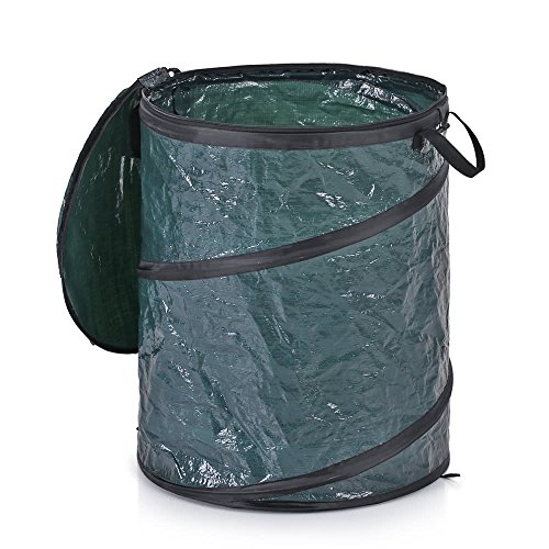 LBZE-25-Gallon-Pop-Up-Garden-BagReusable-Gardening-Lawn-and-Leaf-BagsCollapsible-Container-with-Spring-Bucket-for-Yard-and-Lawn-Pool-Gardening-Lawn-0-1