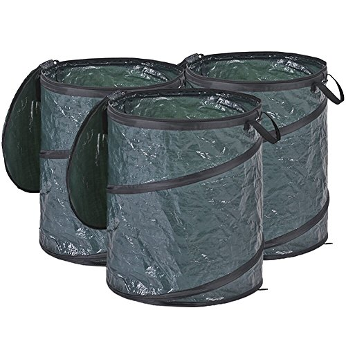 LBZE-25-Gallon-Pop-Up-Garden-BagReusable-Gardening-Lawn-and-Leaf-BagsCollapsible-Container-with-Spring-Bucket-for-Yard-and-Lawn-Pool-Gardening-Lawn-0