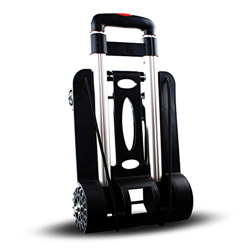 LF-Folding-Compact-Lightweight-Durable-Luggage-Cart-Travel-Trolley-Quiet-Wheeling-Sports-Medical-Equipment-Carrier-0-2
