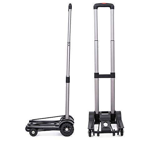 LF-Folding-Compact-Lightweight-Durable-Luggage-Cart-Travel-Trolley-Quiet-Wheeling-Sports-Medical-Equipment-Carrier-0