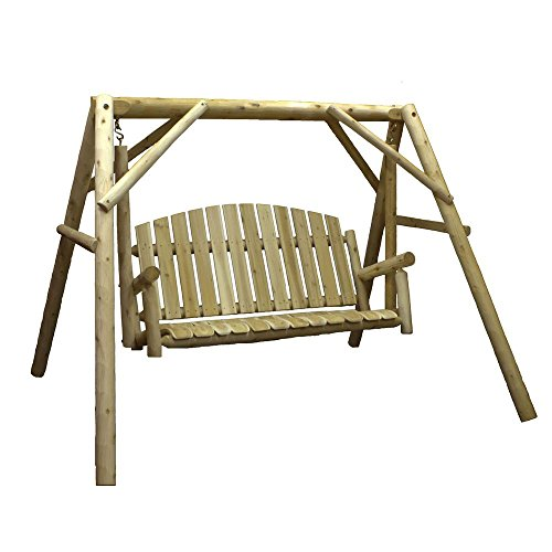 Lakeland-Mills-Country-Cedar-Outdoor-Porch-Swing-and-Stand-Set-with-Table-0-0