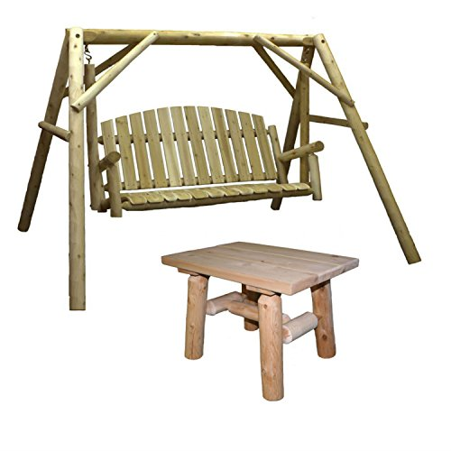 Lakeland-Mills-Country-Cedar-Outdoor-Porch-Swing-and-Stand-Set-with-Table-0