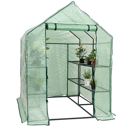 Lapha-Greenhouse-Plants-Flowers-Portable-Mini-Walk-In-Outdoor-Green-House-Plant-Growing-Tents-8-Shelves-2-Tier-0-0