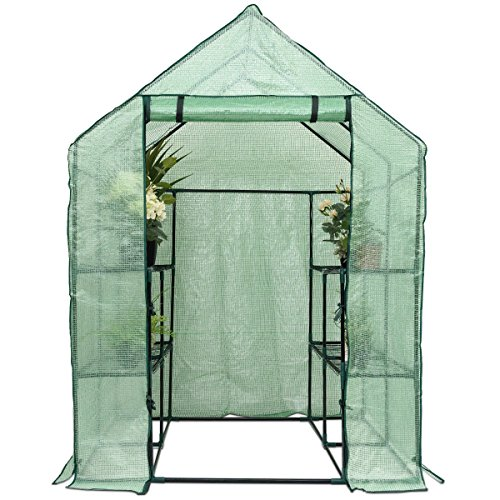 Lapha-Greenhouse-Plants-Flowers-Portable-Mini-Walk-In-Outdoor-Green-House-Plant-Growing-Tents-8-Shelves-2-Tier-0-1