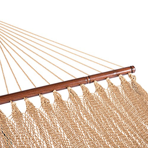 Lazy-Daze-Hammocks-55-Inch-Double-Caribbean-Hammock-Hand-Woven-Polyester-Rope-Outdoor-Patio-Swing-Bed-0-2