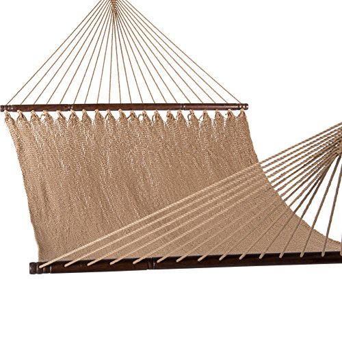 Lazy-Daze-Hammocks-55-Inch-Double-Caribbean-Hammock-Hand-Woven-Polyester-Rope-Outdoor-Patio-Swing-Bed-0