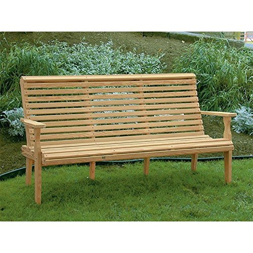 Leisure-Lawns-Amish-Made-Yellow-Pine-Roll-Back-Bench-Model-425-Ships-Free-Within-2-to-3-Weeks-0-0