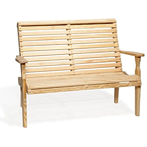 Leisure-Lawns-Amish-Made-Yellow-Pine-Roll-Back-Bench-Model-425-Ships-Free-Within-2-to-3-Weeks-0