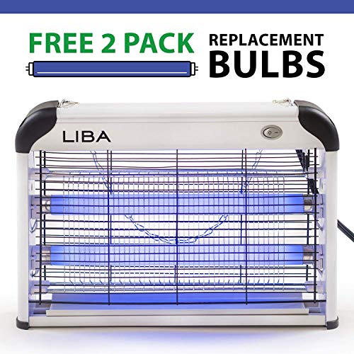 LiBa-Bug-Zapper-Electric-Indoor-Insect-Killer-Mosquito-Bug-Fly-Other-Pests-Killer–Powerful-2800V-Grid-20W-Bulbs–2-Pack-Replacement-Bulbs-Included-0