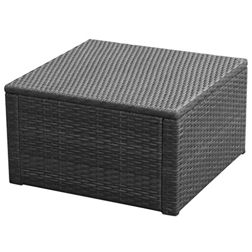 LicongUS-Footstool-Ottoman-Poly-Rattan-21x21x118-Black-Footstool-Outdoor-Footstool-Material-Metal-frame-PE-rattan-0-1