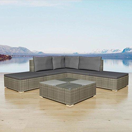 LicongUS-Garden-Sofa-Set-15-Pieces-Poly-Rattan-Gray-Garden-Sofa-Designed-to-be-Used-Outdoors-Year-round-Rattan-Sofa-Set-0