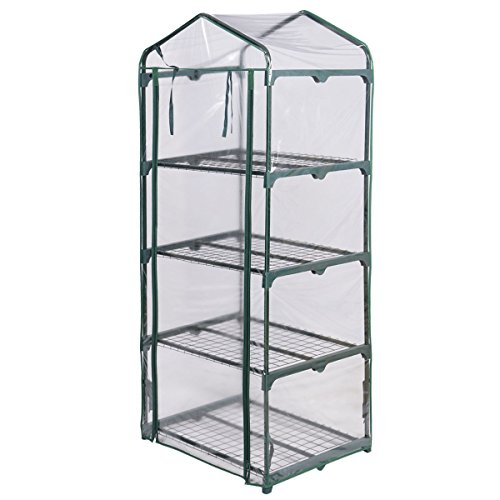 Light-Green-4-Shelves-Green-House-Portable-Mini-Outdoor-Green-house-Garden-0-1