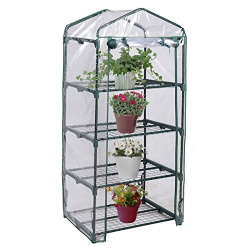 Light-Green-4-Shelves-Green-House-Portable-Mini-Outdoor-Green-house-Garden-0