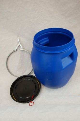 Lot-of-4-Kegs-plastic-drum-with-open-lid-galvanized-locking-lever-blue-30-L-4×22094-0-1