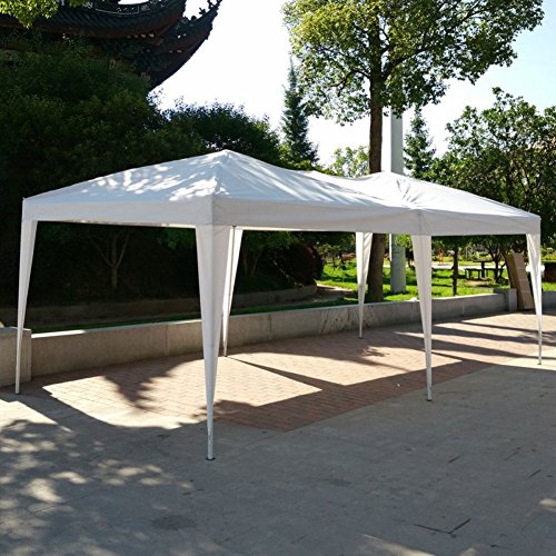 Lovinland-10-x-20-Pop-Up-Canopy-Party-Wedding-Tent-Outdoor-Folding-Gazebo-White-with-Carry-Bag-0-0