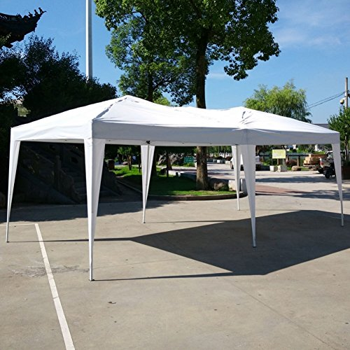 Lovinland-10-x-20-Pop-Up-Canopy-Party-Wedding-Tent-Outdoor-Folding-Gazebo-White-with-Carry-Bag-0-1