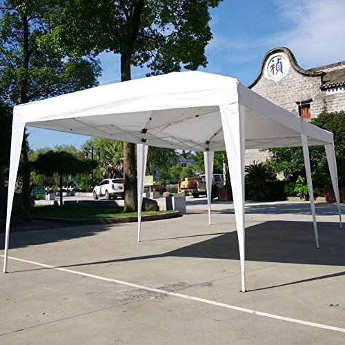 Lovinland-10-x-20-Pop-Up-Canopy-Party-Wedding-Tent-Outdoor-Folding-Gazebo-White-with-Carry-Bag-0