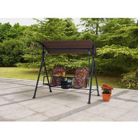 Luxury-and-Highly-Functional-Two-Seat-Bungee-Canopy-Swing-with-Console-Table-Sturdy-Rust-Resistant-Powder-Coated-Steel-Frame-Cool-Fade-Resistant-Ventilated-Woven-Pattern-for-the-Seat-and-Back-0-1