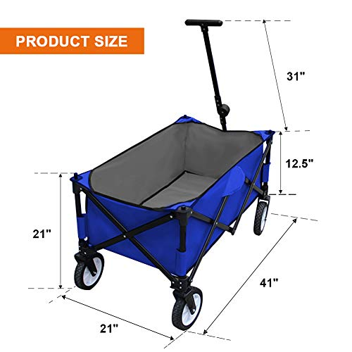 MAGGIFT-Collapsible-Folding-Outdoor-Utility-Wagon-Cart-0-0