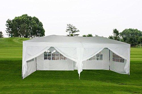 MCombo-10×20-ft-EZ-POP-UP-Wedding-Canopy-Party-Tent-Folding-Gazebo-Tent-Canopy-6-Side-Walls-wFree-Carry-Case-6051-1020W-0-0