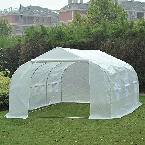 MRT-SUPPLY-11-x-10-x-7-Portable-Walk-In-Garden-Greenhouse-White-with-Ebook-0-0